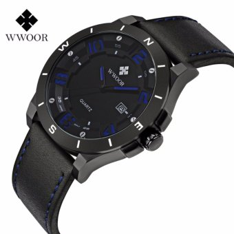 Famous mens watches top brand luxury WWOOR 2017 Top Analog Army Military Sports Male Watches Wristwatches Relogio Masculino 8014 - intl