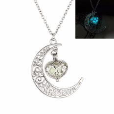 Fancyqube New Fashion Luminous Glow In The Dark Necklace Sailor Moon Pendant Necklace For Women Light Blue (White 50 CM) - Intl
