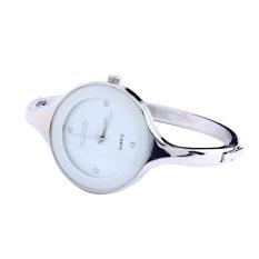 Fancytoy Elegant Women Bangle Design Casual Style Bracelet Watch Quartz Wrist Watch (White)