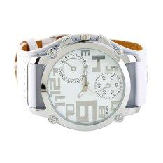 Fashion Big Leather Band Over Size Face Men Boys Sport Quartz Clock Watch