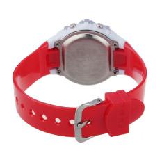 Fashion Children Digital LED Quartz Alarm Date Sports Wrist Watch Red (Intl)