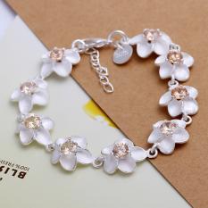 Fashion Cool Wintersweet Women Girls Silver Plated Gift Bracelet