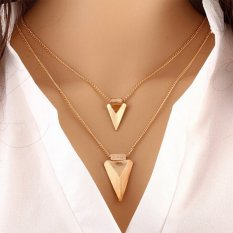 Fashion Design Simple Multi-triangle Metal Clothes Accessories (Gold) (Intl)