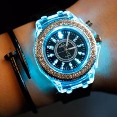 Fashion Geneva watches women Silicone quartz Noctilucent Lady WatchJelly dress watch LED Light relogio feminino - intl