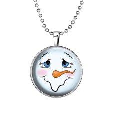 Fashion Glow In The Dark Christmas Snowman Glowing Steampunk Long Necklace New Women