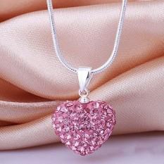 Fashion Hati Kristal 925 Sterling Silver Perhiasan Rantai Kalung Source · Fashion Heart Crystal 925 Sterling