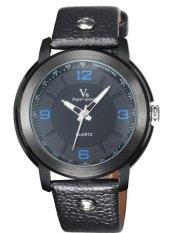Fashion Hot Sale Classic Men Leather Business Quartz Wristwatch Blue (Intl)