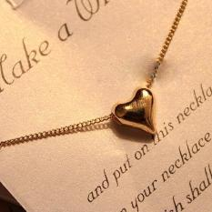 Fashion Lovely Sweet Gold Tone Heart Shape Chain Necklace Pendant Gift (Intl)