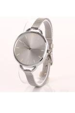 Fashion Luxury Silver Quartz Lady Women Wrist Watch