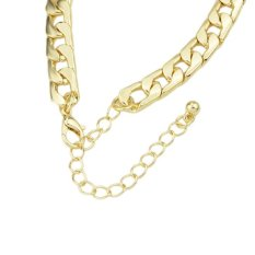 Fashion New Snap Jewelry Wholesale Gold Color Chain Link Bracelets & Bangles Bijouterie Gifts- Intl