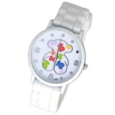 Fashion Silicone Cute Bear Watch Silicone Jelly Watches Watched Women Silicone Watch Relogio Feminino (Intl)