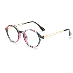 Fashion Vintage Retro Round Glasses Multicolor Frame Glasses Plain for Myopia Women Eyeglasses .