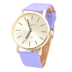 Fashion Watch Gold Watches Trade Fashion Casual Dignified Simple Table Purple (Intl)