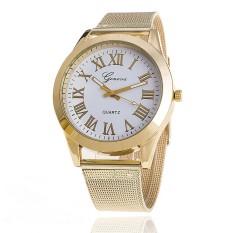 Fashion Women Geneva Watch Luxury Brand Gold Analog Quartz Ladies Wristwatches (White) (Intl)