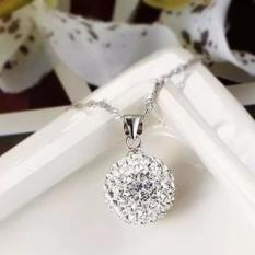 Fashion Women's 925 Sterling Silver Chain Crystal Rhinestone Necklace Pendant