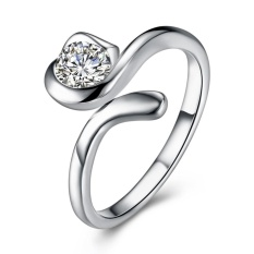 Fashion Zodiac 925 Sterling Silver Plated WeddingRings Virgo LKNSPCR931 - intl