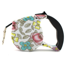 Flower 5 Meter Pet Dog/Cat Puppy Automatic Retractable Pet Traction Rope Belt Cord Walking Lead Leash Pet Products - Blue