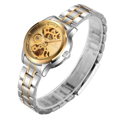 FNGEEN Brand Watch Mechanical lady skeleton fashion automatic business lady stainless steel watch - intl