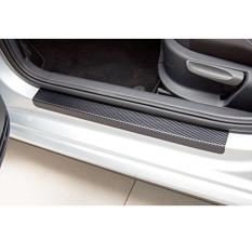 For Honda City BRIO JAZZ Mobilio Civic HR-V CR-V CR-Z Accord Odyssey Pilot Legend BR-V CIVIC Freed Brio Amzae Car Door Sill Scuff Welcome Pedal Threshold Carbon Iber Protect Stickers 4pcs Car Styling Black Vinyl Sticker - Intl