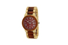 Foreign Trade High-end Brand Wood Table Bewell Hot Fashion Watch Men's Natural Sandalwood Table (maple Wood Red Sandalwood) - intl