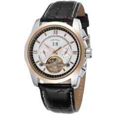 Forsining Men Mechanical Automatic Dress Watch Tourbillion with Gift Box FSG625M3T1 (White) (Intl)