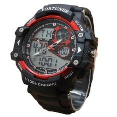 Fortuner Sport Dual Time - Jam Tangan Pria - Rubber - AD1602BR