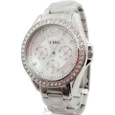 Fossil Es3202 - Jam Tangan Fashion Wanita Elegant - Diamond - Chronograph Active - Modern Fiture Analog Simple - Stainless (Silver)