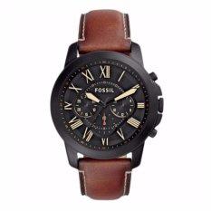 Fossil FS5241 - Jam Tangan Pria - Brown - Strap Leather