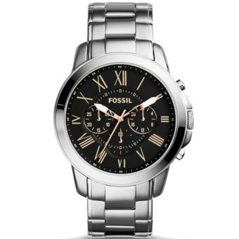 Fossil Grant Chronograph Black Dial Stainless Steel Mens Watch FS4994