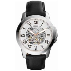 Fossil Jam Tangan Pria Fossil ME3101 Grant Automatic Black Leather Watch