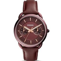 Fossil Jam Tangan Wanita Fossil ES4121 Tailor Multifunction Wine Leather Watch