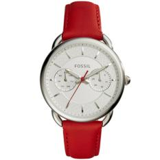 Fossil Jam Tangan Wanita Fossil ES4122 Tailor Multifunction Red Leather Watch