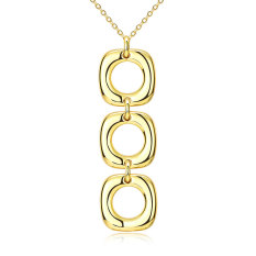 Fulemay 2016 Newest Custom Jewelry Gold Plated Geometric Shape Pendant Necklace AKN046