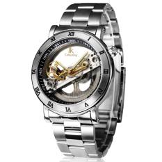 Fuskm IK Apa Qi Automatic Mechanical Watch Male Table Double-sided Hollow Men's Waterproof Watch 98399MS (Silver)