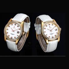 Fuskm IK Apa Qi Automatic Mechanical Watches Men's Casual Watches Diamond Life Waterproof Steel 98422G (White)