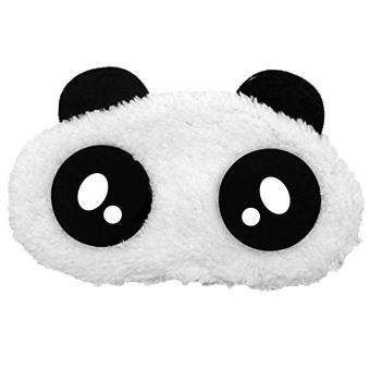 Gambar Kartun Panda kembang tidur masker mata menutupi warnatambalan maskara nap tidur istirahat perjalanan gaya pestaminum