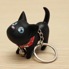 Gantungan Kunci Dengan Liontin Kucing Lucu Mainan Anak Warna Hitam
