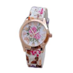 Garden Wind Pattern Silicone Watch (Multicolor)