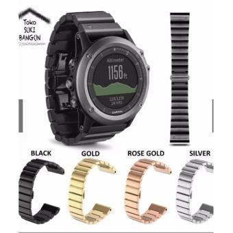 Garmin Fenix 3 Tali Jam Sapphire Luxury Stainless Steel Watch Band