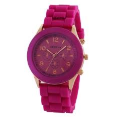 Geneva Cosmo Rubber - Jam Tangan Fashion Wanita - Rubber Strap - GV Cosmo Pink