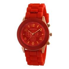 Geneva Cosmo Rubber - Jam Tangan Fashion Wanita - Rubber Strap - GV Cosmo Red