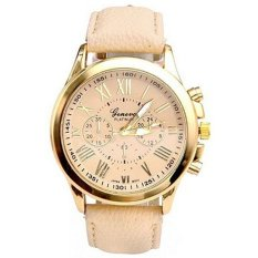 GENEVA Jam Tangan Wanita Analog Strap Kulit Sintetis Women Leather Watch