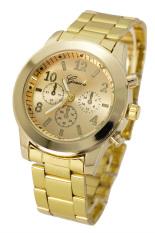 Geneva Jam Tangan Wanita - Gold - Shiny Metal Casing - 632643