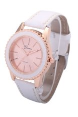 Geneva New Luxury Creative Gear Style Watch Ladies Fashion Dress Quartz Wristwatches (White)