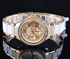 Geneva Women Rhinestone Watches Crystal Ladies Quartz Diamond Watches Gold
