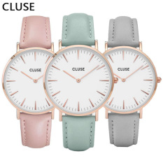 GIFT BOX ROOD Luxury Golden Case Black Dial Leather Strap Women Watches Men Auto Date Business Wristwatch Fashion Casual Watch