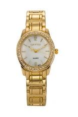 Gogoey Watches Women Rhinestone Quartz Watch Luxury Crystal Watch Women Fashion Dress Quartz Wristwatche (Gold)