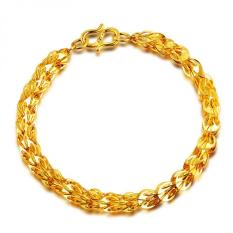 Gold Plated Phoenix Tails Shaped Chain Bracelet Jewelry For Women ACC08 (Gold) (Intl)