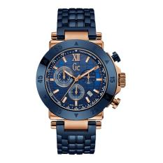 GUESS COLLECTION Gc-1 SPORT X90012G7S - Chronograph - Jam Tangan Pria - Stainless - Blue - Rose Gold