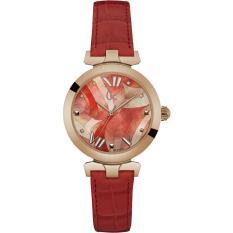 Guess Collection - Jam Tangan Wanita - Rosegold-Merah - Strap Merah - Y20004L3